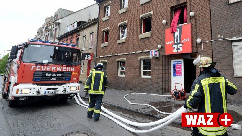 Brand im Bordell - Verkehr in Duisburger City staut sich