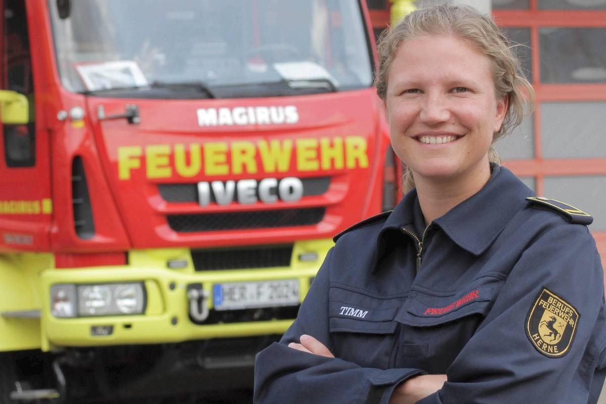 Fleiß von Feuerwehrmann