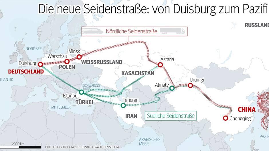 Duisburg Will Eine Anbindung Zum Pazifik Waz De
