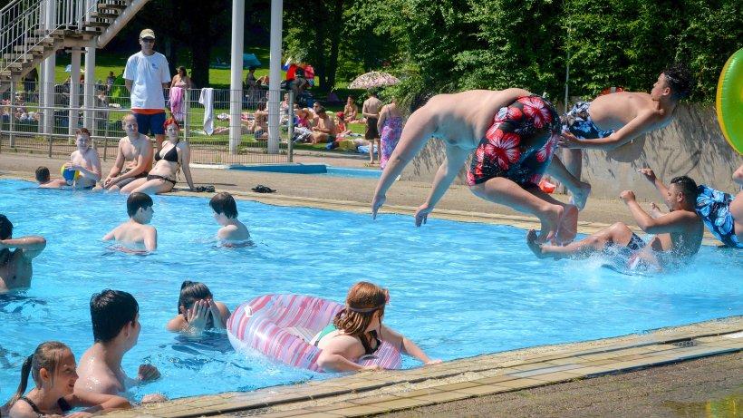 Bottrop Schwimmbad freibad im revierpark vonderort profitiert heißem wetter waz