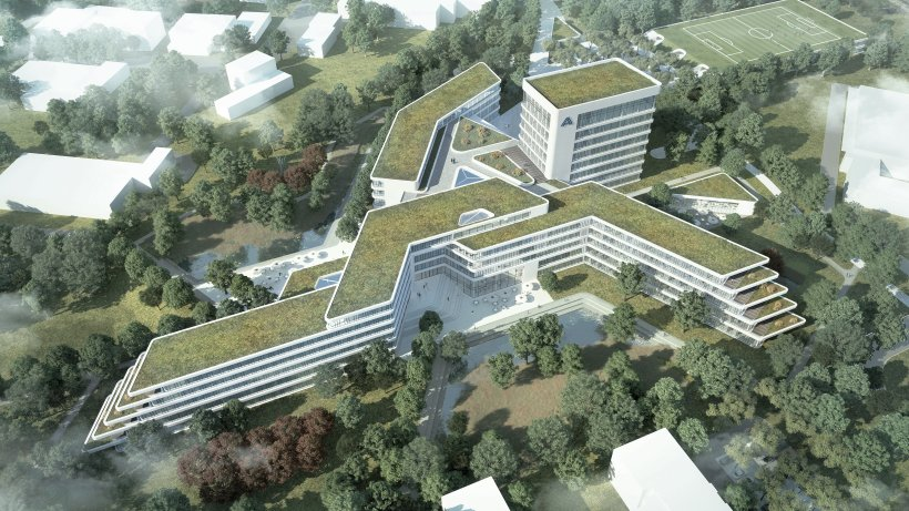so soll der neue aldi nord campus in essen kray aussehen essen. Black Bedroom Furniture Sets. Home Design Ideas