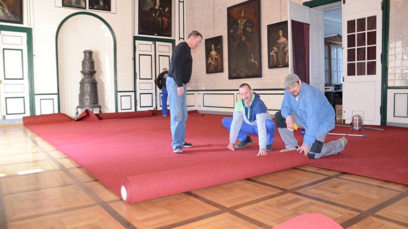 Roter Teppich für den Fürstensaal  Nachrichten und