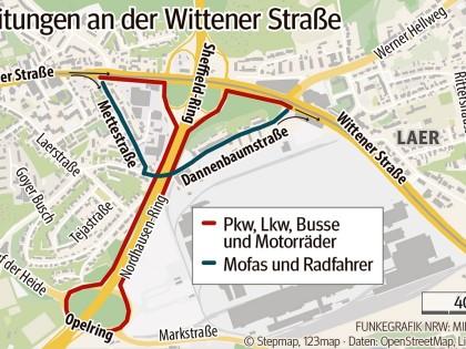 Wittener Straße: Tausende Autos werden zwei Jahre umgeleitet ...