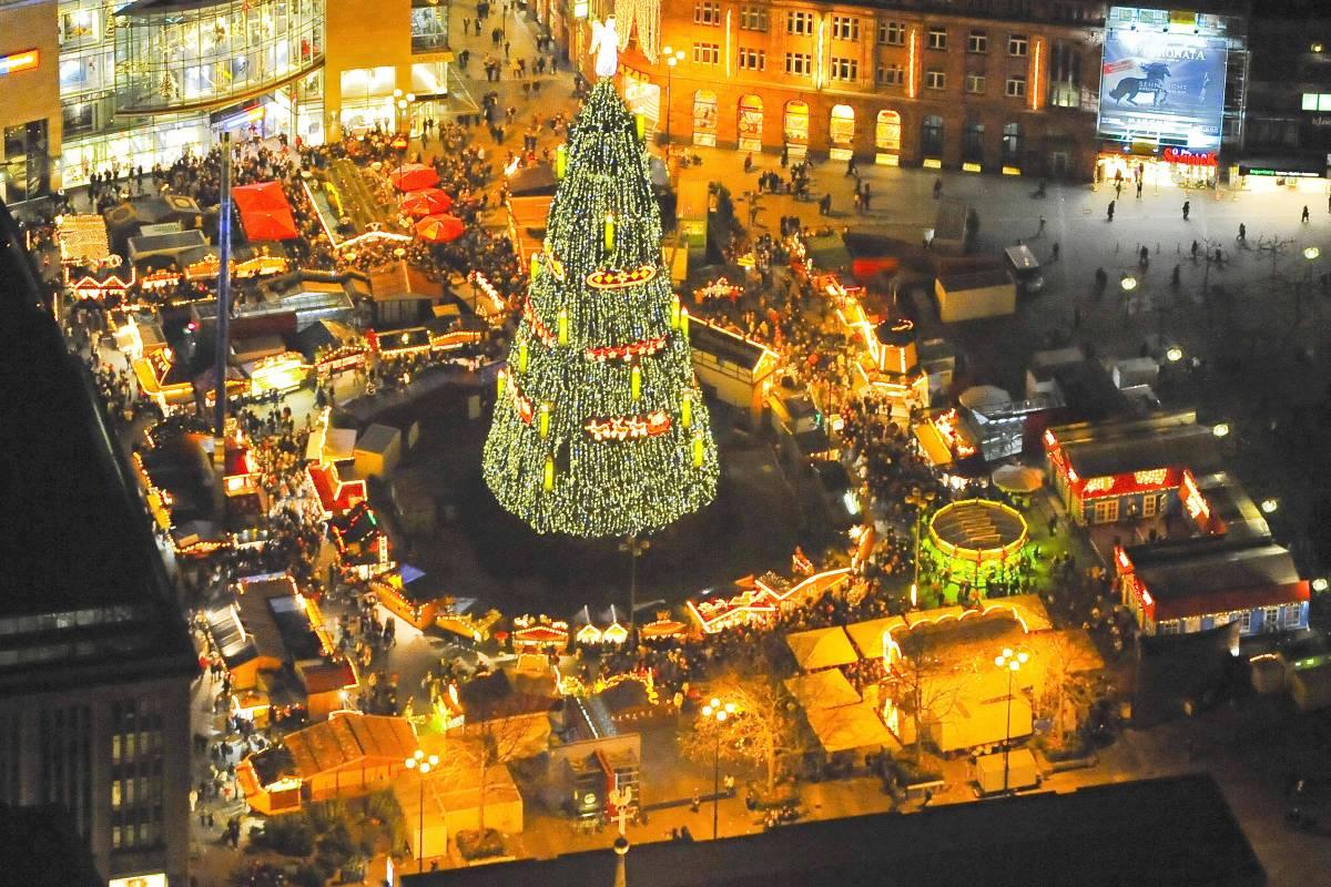 Größter Tannenbaum Deutschlands.Tanne Von Crange Streit Um Größten Weihnachtsbaum Der Welt Waz De