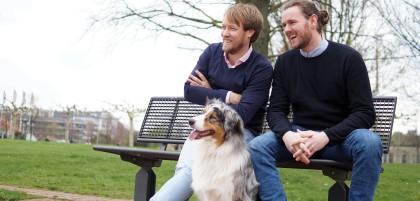 """Jan Holzapfel (links) und David Richter haben gemeinsam """"Dr. Sam"""" gegründet."""