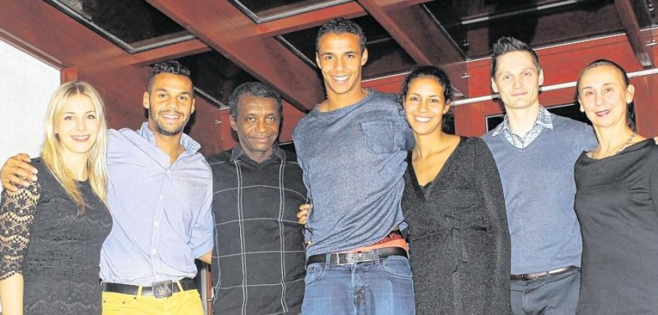 Picture of Joel Matip Family, called Father Jean, Brother Marvin