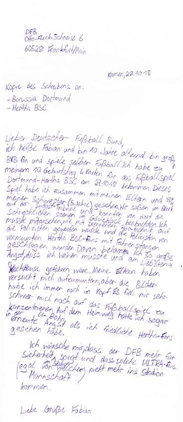 Offener Brief vom zehnjährigen Fabian an den FB