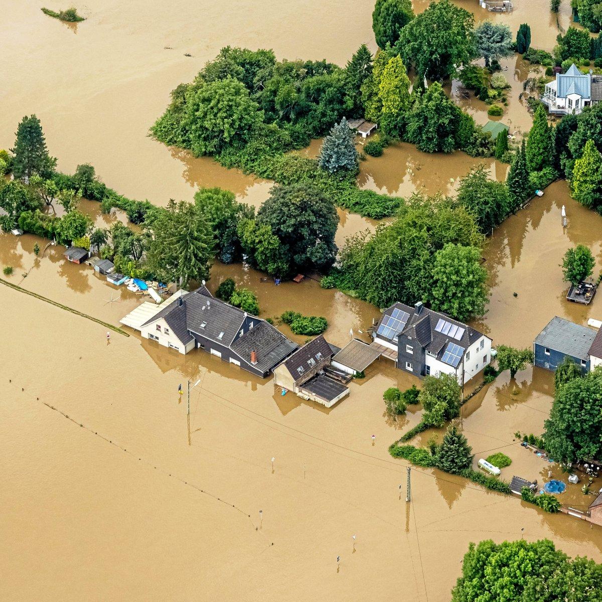 Hochwasser Bochum Luftbilder zeigen Vorher Nachher Vergleich   waz.de