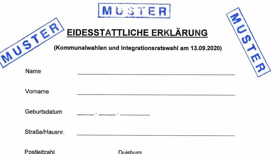 Eidesstattliche Erklrung Vorlage Kfz Sterreich 3