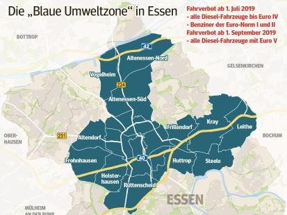 Fahrverbot Stuttgart Karte.Gericht Fahrverbote In Gelsenkirchen Essen Und Auf Der A40 Waz