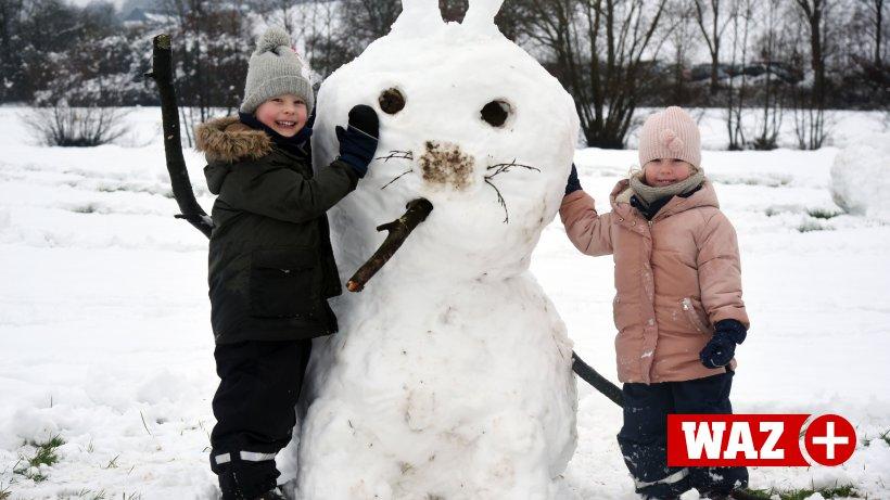 Hattingen: Schneefall zieht auch viele Auswärtige an