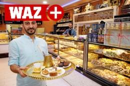 Syrer verkauft in Oberhausen süßes Gebäck gleich kiloweise