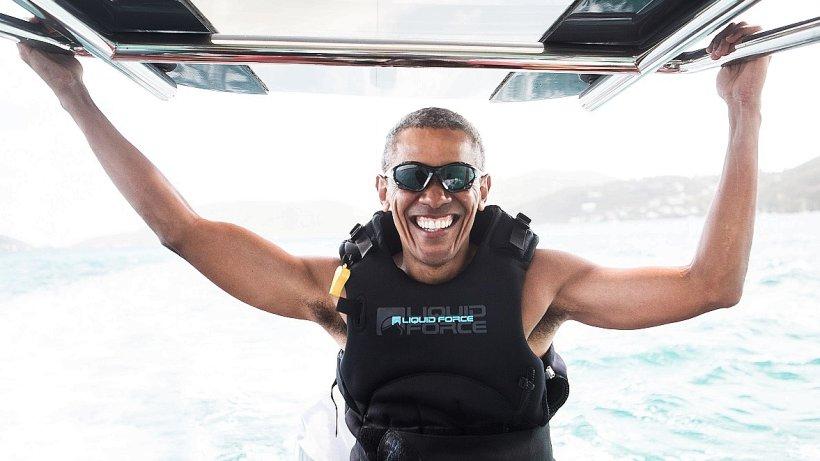 Ex-Präsident Barack Obama liefert sich Duell im Kite-Surfen - Westdeutsche Allgemeine Zeitung