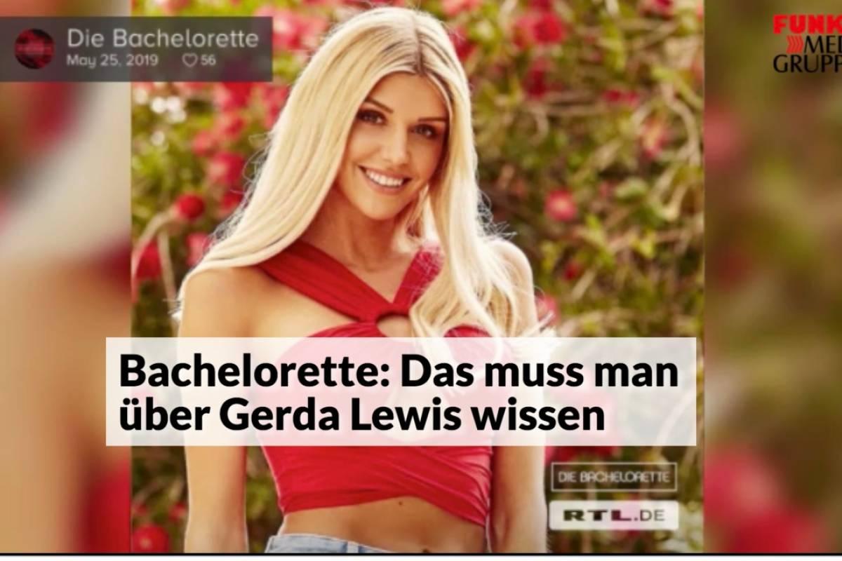 Bachelorette Das Muss Man Uber Gerda Lewis Wissen Waz De Panorama