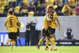 Aufsteiger Dynamo Dresden mit Traumstart, KSC siegt in Rostock