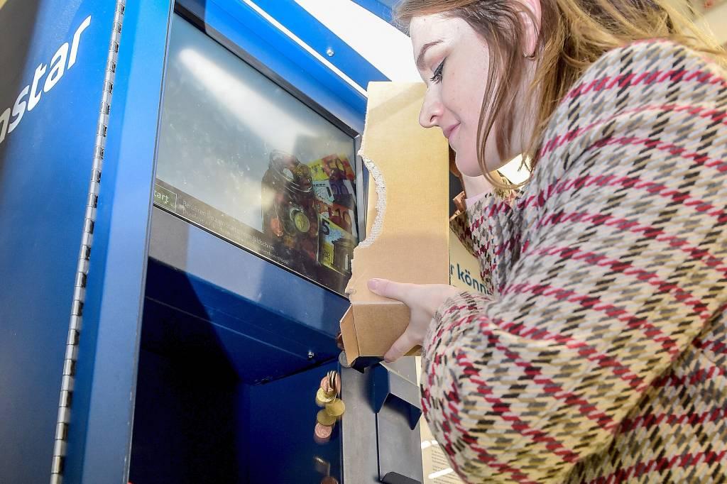 Coinstar Münzgeld Im Automaten Abgeben Gegen Gebühr Wazde
